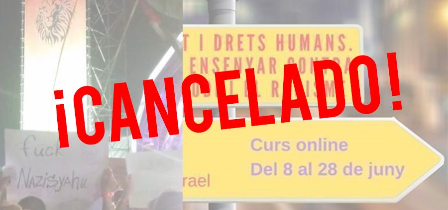 Curso antisemita cancelado